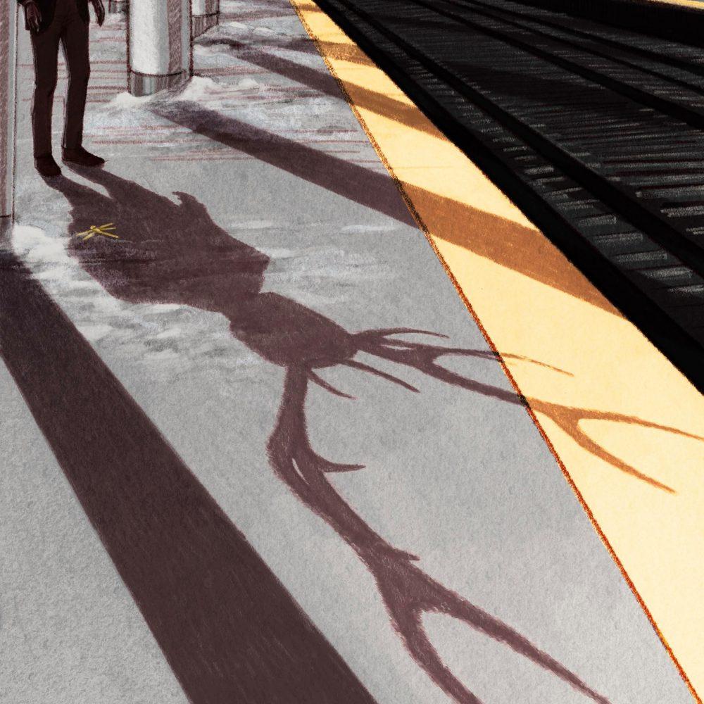 Waiting on the train to Glenwood